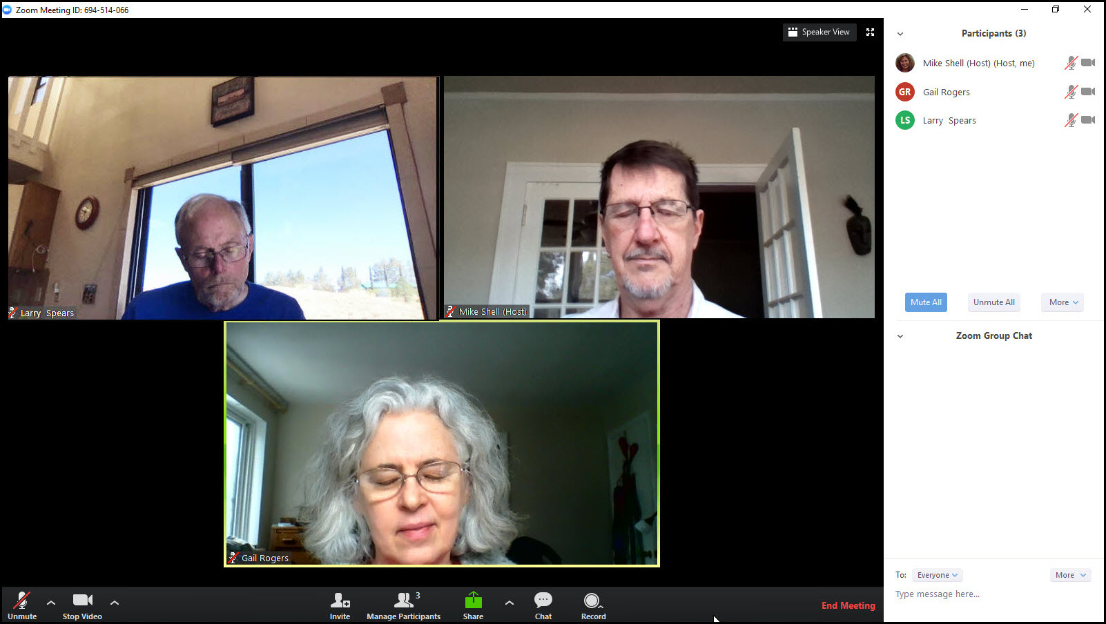 Online Quaker worship using Zoom video conferencing