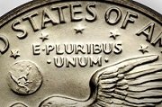 E Plurbus Unum on a coin