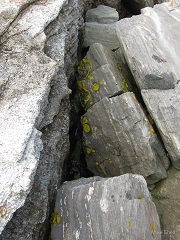 """Geology I,"" by Mike Shell. Ocean Point coastal rock formations, East Boothbay, Maine (8/14/2014)."
